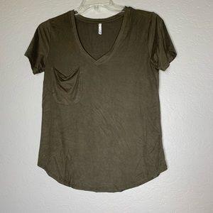 Z Supply Army Green Soft Pocket T-Shirt Size M
